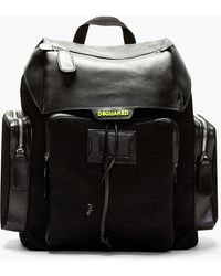 DSquared2 Black Neoprene Mesh Backpack - Lyst