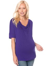 Splendid Maternity Elbowsleeve Cowlneck Top - Lyst