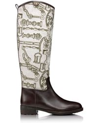 Tory Burch Kensington Flannel Riding Boot - Lyst