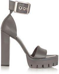 Alexander McQueen Leather Platform Sandals - Lyst