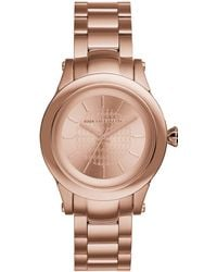 Karl Lagerfeld Unisex Rose Gold Tone Chain Bracelet Watch - Lyst