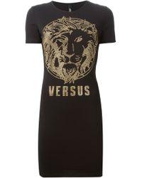 Versus  Studded Lion T-Shirt Dress - Lyst