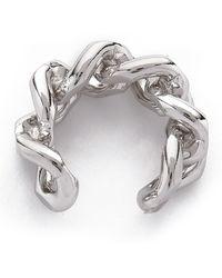 Gemma Redux - Chain Cuff Ring - Rhodium - Lyst