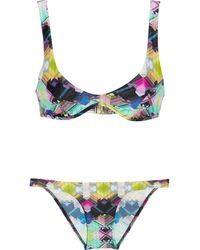 Zimmermann The Vase Printed Scoop Bikini - Lyst