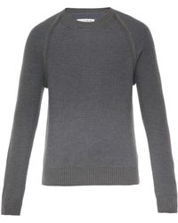 Maison Martin Margiela Gray Contrast-Weave Sweater - Lyst