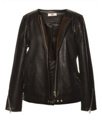 Hide - The Disa Black Leather Biker Jacket By - Lyst