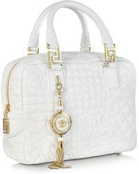 Versace Micro Vanitas Demetra Quilted Leather Bag - Lyst