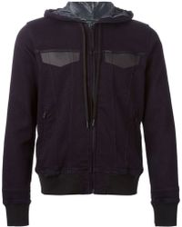Diesel Blue Hooded Jacket - Lyst