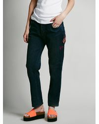 Free People Daybreak Embroidered Skinny - Lyst