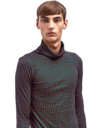 Raf Simons Sterling Ruby Mens Rollneck Striped Jersey Top - Lyst