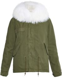 Mr & Mrs Italy - Fur-lined Canvas Parka - Lyst