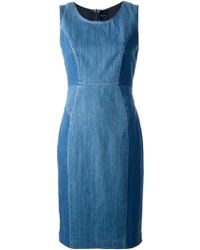 Paul by Paul Smith - Paneled Denim Dress - Lyst