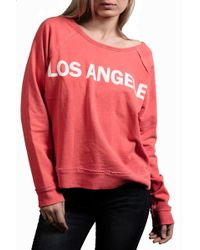 Textile Elizabeth And James Los Angeles Sweatshirt - Lyst
