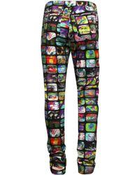 Jeremy Scott | Cartoon Couture Tv Print Skinny Jeans | Lyst