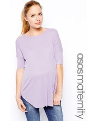 Asos Maternity Top In Rib With Short Sleeve - Lyst