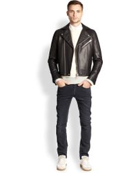 Acne Studios Gibson Leather Jacket - Lyst