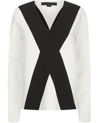 Alexander Wang Graphic Block Sweater - Lyst
