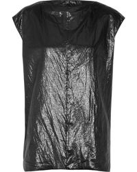 Rick Owens Dagger Metallic Shell Top - Lyst