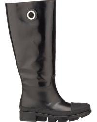 Balenciaga Rubber-Overlay Rain Boots - Lyst