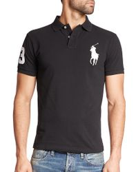 Polo Ralph Lauren | Custom-fit Big Pony Mesh Polo | Lyst