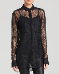 DKNY Long Lace Blouse - Lyst