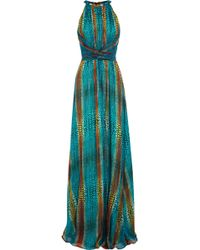 Issa Printed Silkblend Georgette Gown - Lyst