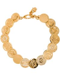 Versace Medusa Coin Necklace gold - Lyst