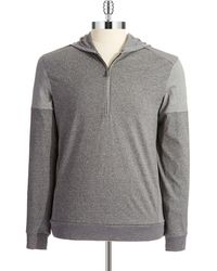 Calvin Klein Zip Front Sweatshirt - Lyst