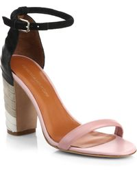 Rebecca Minkoff Mali Striped Suede And Leather Sandals - Lyst