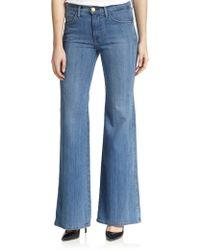 Current/Elliott Girl Crush High Waist Flare Jeans blue - Lyst