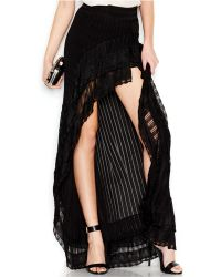 Guess Ruffle High-Low Skirt - Lyst