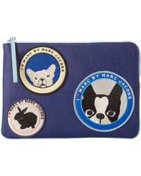 Marc By Marc Jacobs Patched Up Pets Tech Olive And Friends - Lyst