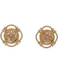 Charriol - 18k Petra Gold Champagne Diamond Earrings - Lyst