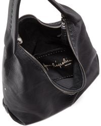 Henry Beguelin Canotta Leather Hobo Bag Black - Lyst