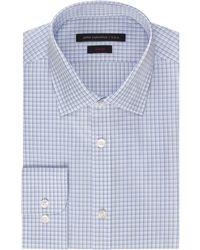 John Varvatos Slim Fit Z Cotton Fancy Check Dress Shirt - Lyst