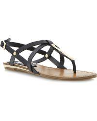Steve Madden Henna Flat Sandals Black - Lyst