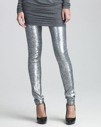 Donna Karan New York Sequined Jersey Leggings - Lyst
