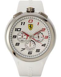 Scuderia Ferrari - 830102 Silver-Tone & White Watch - Lyst