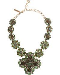 Oscar de la Renta Large Bold Jeweled Necklace - Lyst