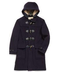 Burberry Brit - 'brockhurst' Hooded Wool Blend Duffle Coat - Lyst
