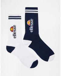 Ellesse - 2 Pack Crew Socks - Lyst