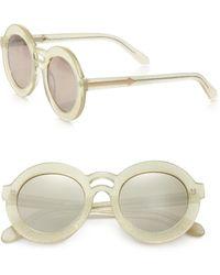Karen Walker Joyous Plastic Round Sunglasses/Gold Mirror - Lyst