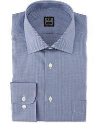 Ike Behar - Long-sleeve Houndstooth Dress Shirt - Lyst