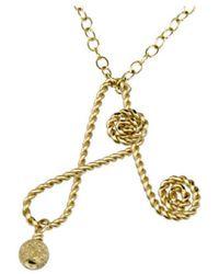 Rafia - Initial A Necklace - Lyst