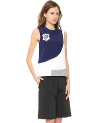 Viktor & Rolf Sleeveless Top White Grey Blue - Lyst