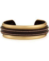 Brunello Cucinelli - Leather Monili Cuff Bracelet - Lyst