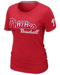Nike Womens Philadelphia Phillies Practice T-shirt - Lyst