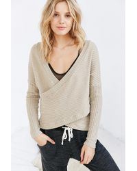 Out From Under - Dancer Ribbed Wrap Sweater - Lyst