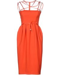 DSquared2 Red Knee-length Dress - Lyst