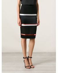 Givenchy Striped Pencil Skirt - Lyst